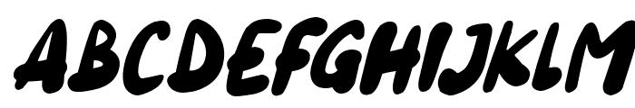 Blueberry Italic Font UPPERCASE