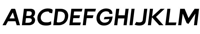 Bluebird Extended Oblique Font UPPERCASE