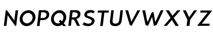 Bluebird Light Oblique Font UPPERCASE