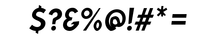 Bluebird Narrow Oblique Font OTHER CHARS