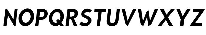 Bluebird Narrow Oblique Font UPPERCASE