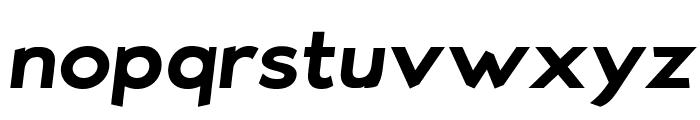Bluebird SFBold Extended Oblique Font LOWERCASE