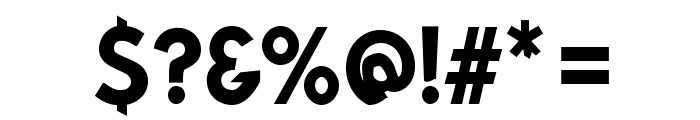 Bluebird SFBold Narrow Font OTHER CHARS