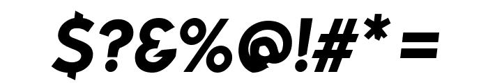 Bluebird SFBold Oblique Font OTHER CHARS