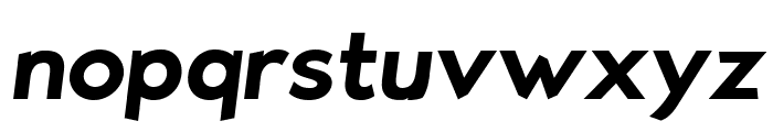 Bluebird SFBold Oblique Font LOWERCASE