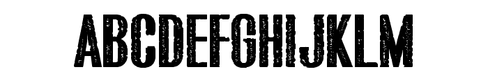 Bluefish ERODED DEMO Font UPPERCASE