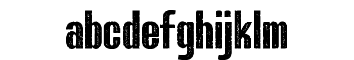 Bluefish ERODED DEMO Font LOWERCASE