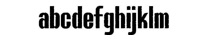 Bluefish IRREGULAR DEMO Font LOWERCASE