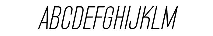 Bluefish Light Demo Italic Font UPPERCASE
