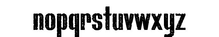 Bluefish_ERODED DEMO Font LOWERCASE