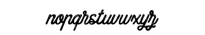 Blueline Paradise Font LOWERCASE