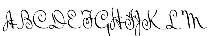 BluelminRalph Font UPPERCASE
