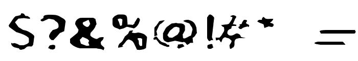 BlurrdWide Font OTHER CHARS