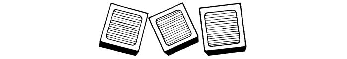 Blu's Blocks Font OTHER CHARS