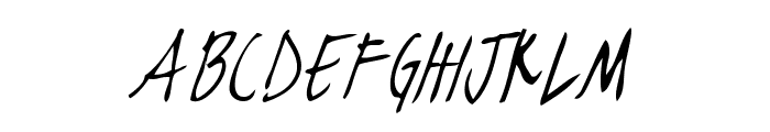 blackjacketboys-ThinItalic Font LOWERCASE