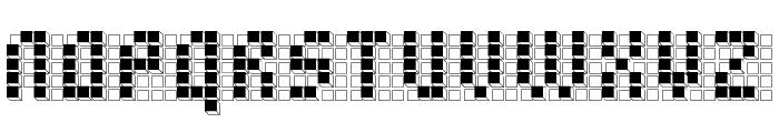 bleuck reversed Font LOWERCASE