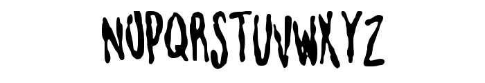 blotchyhand Font UPPERCASE