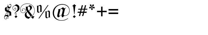 Black Swan BF Regular Font OTHER CHARS