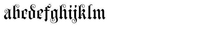 Black Swan BF Regular Font LOWERCASE