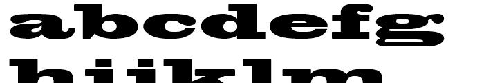 Blackoak Regular Font LOWERCASE