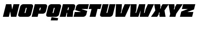 Blak Ultra Slanted Font UPPERCASE
