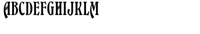 Bleecker Street NF Regular Font UPPERCASE