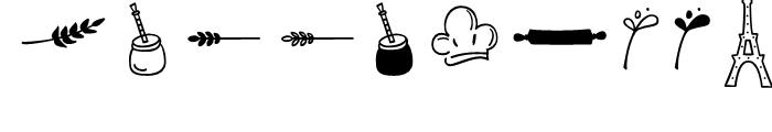 Blend Dingbats Font OTHER CHARS