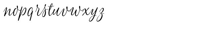 Blend Script Font LOWERCASE