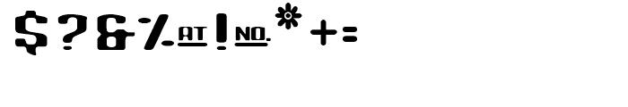 Blinddate Regular Font OTHER CHARS