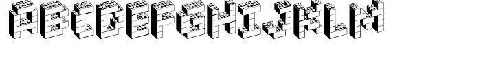 Block Party NF Regular Font UPPERCASE