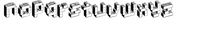 Block Party NF Regular Font LOWERCASE