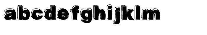 BlockDog Front Font LOWERCASE