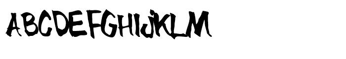 Blue Brush Font UPPERCASE