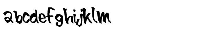 Blue Brush Font LOWERCASE