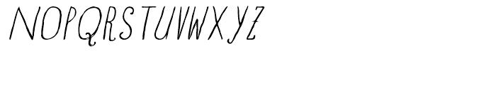 Blue Goblet Drawn Normal Light Italic Font UPPERCASE