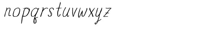 Blue Goblet Drawn Normal Light Italic Font LOWERCASE