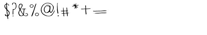 Blue Goblet Drawn Normal Light Font OTHER CHARS