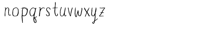 Blue Goblet Drawn Normal Light Font LOWERCASE