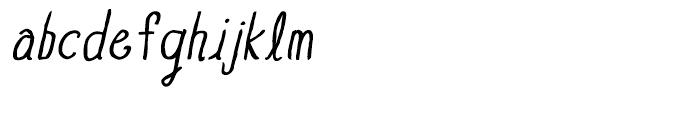 Blue Goblet Drawn Normal Regular Italic Font LOWERCASE