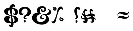 Black Phoenix Regular Font OTHER CHARS