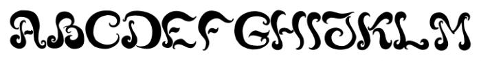 Black Phoenix Regular Font UPPERCASE