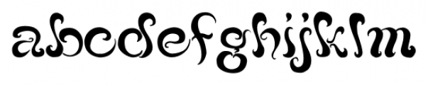Black Phoenix Regular Font LOWERCASE