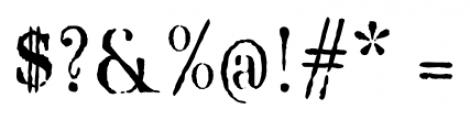 Blackburn Regular Font OTHER CHARS