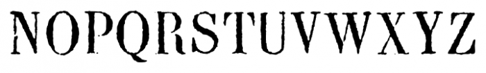 Blackburn Regular Font UPPERCASE