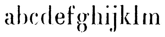 Blackburn Regular Font LOWERCASE