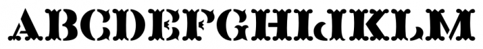 Blacksmith JNL Regular Font UPPERCASE