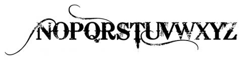 Bleeding Cowboys Pro Regular Font UPPERCASE