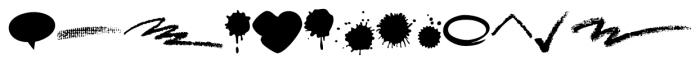 BlobsBrushStrokesBalloons Regular Font LOWERCASE