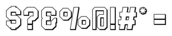 Blockletter 3D 3D Font OTHER CHARS