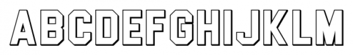 Blockletter 3D 3D Font LOWERCASE